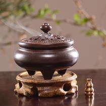 香炉香插陶瓷仿古盘香炉檀香炉茶道塔香沉香檀香家用室内香熏炉