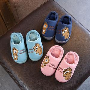 宝宝拖鞋冬女1-3岁防滑婴幼儿室内女孩小童1-3岁冬季儿童棉拖鞋男