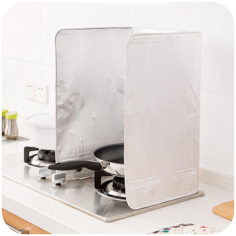 Maison de la cuisine de séparation de l'huile de cuisson de feuille d'isolation anti - éclaboussures de déflecteur de gaz chaud de création de sole le déflecteur d'huile