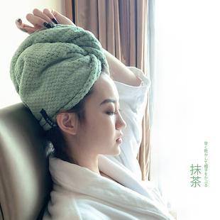 媲美美国AQUIS干发帽出口日本成人女长发速干吸水擦头发毛巾浴帽