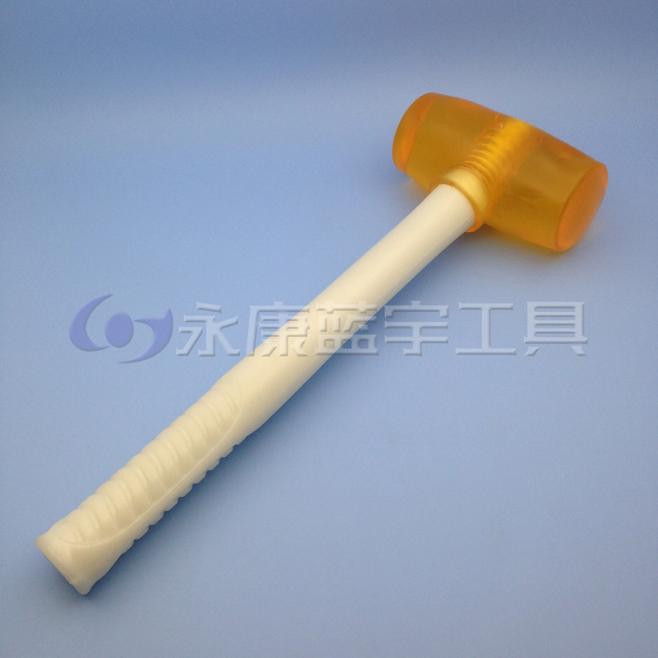 Small hollow yellow transparent plastic handle rubber hammer hammer hammer / installation / tendon