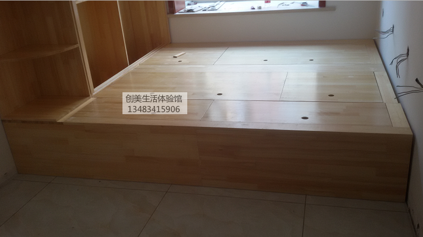 Custom storage bed tatami platform customized bed pine wood lockers combination box bed
