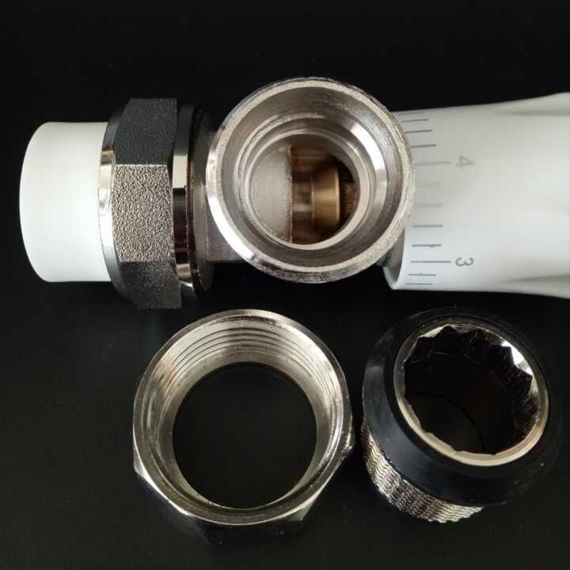 Radiador, radiador de alumínio Tubo de plástico especial de válvula de controle de temperatura ppr/ 4 6 Pontos de controle de temperatura, válvula de ângulo de bronze 1.