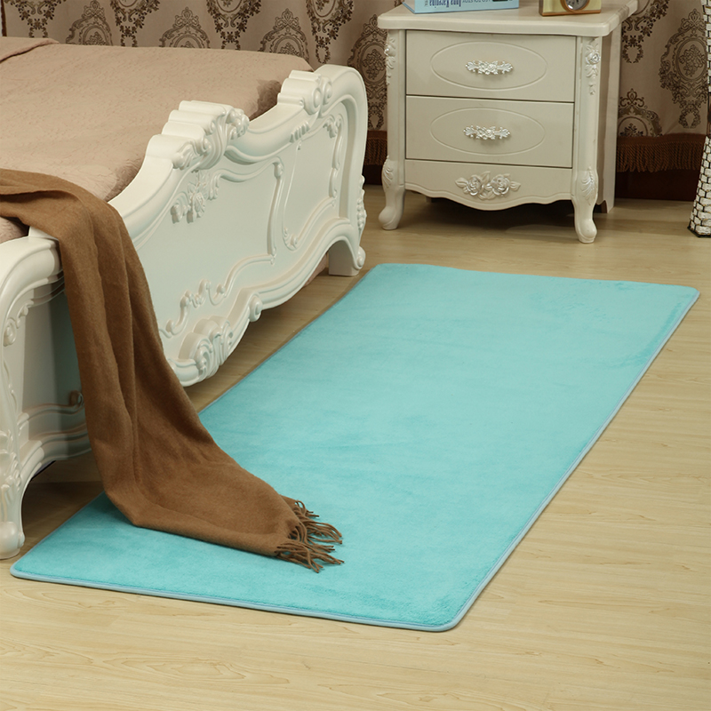 Tatami mats coral velvet carpet carpet European modern custom water room bedroom blanket simple table