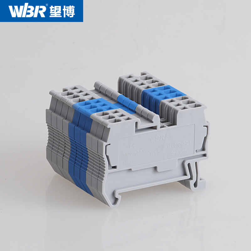 ST-1.5 connection terminal row JUT3-1.5 back pull type spring terminal row guide rail combination type voltage terminal
