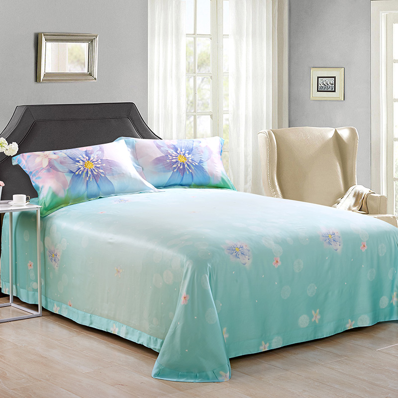 New spring bamboo language four piece 60 genuine silk silk naked double natural bamboo fiber bed 1.8m