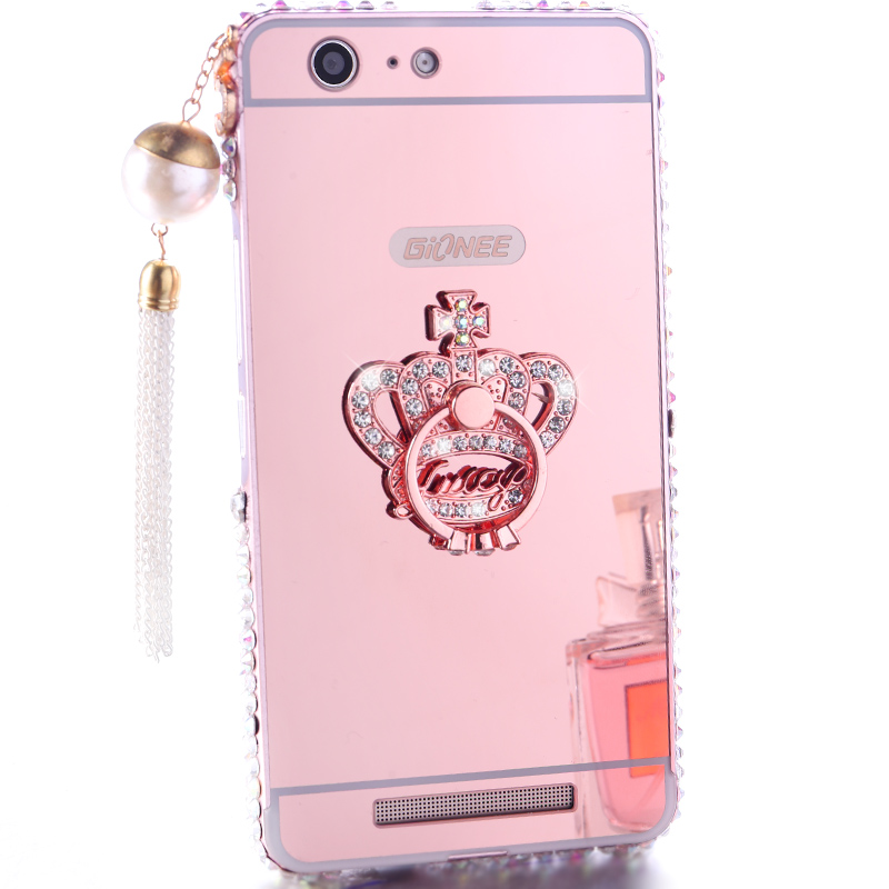 Jin m5plus mobile phone GN8001 case creative personality fall proof shell diamond metal frame shell female