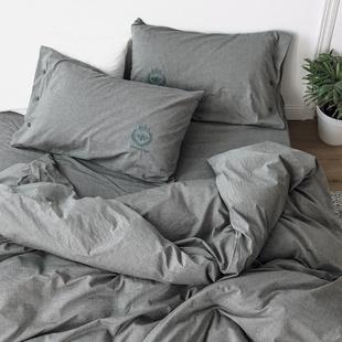 韩商言李现同款四件套全棉纯棉单色床单被套床上用品亲爱的热爱的
