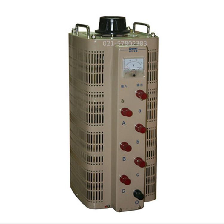 เครื่องปรับลมแรงดันไฟฟ้าสามเฟสหม้อแปลงขดลวดทองแดงเต็ม 9KW แรงดันไฟฟ้าที่สามารถปรับ 0-430V450V460 TSGC2-9KVA