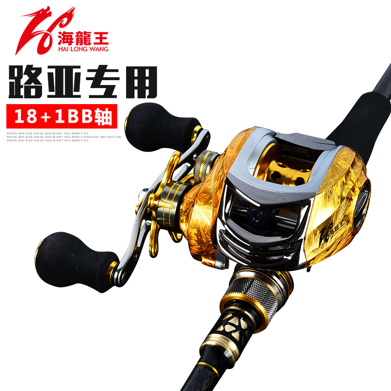 Sea Dragon King 2017 new outdoor road fishing wheel 18+1 axis left and right hand magnetic brake water drop wheel
