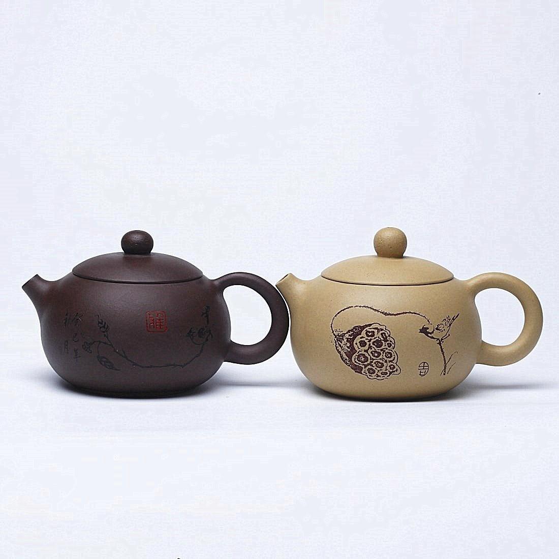 Een pot met paarse rand Yixing paarse theepot pure handgeschilderde paarse klei modder home Shi-apparatuur thee specials