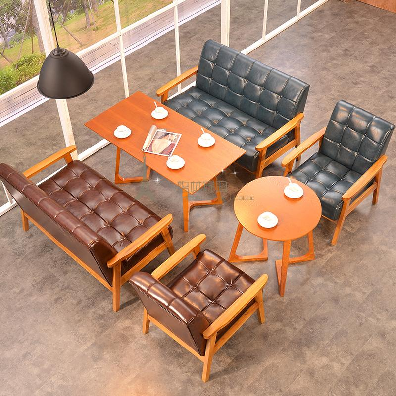 North European cafe table chair double Starbucks sofa sofa sofa sofa table chair combination