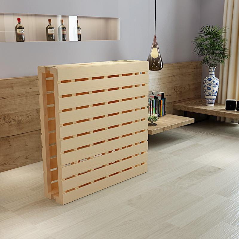 1 cama doble de madera de adultos es fácil dormir en la cama de madera de pino de la cama cama cama plegable de madera de 2 niños Jane M.