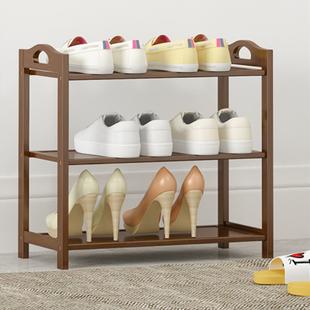 鞋架家用室内好看鞋柜门口收纳架经济型多层实木防尘简易放鞋架子