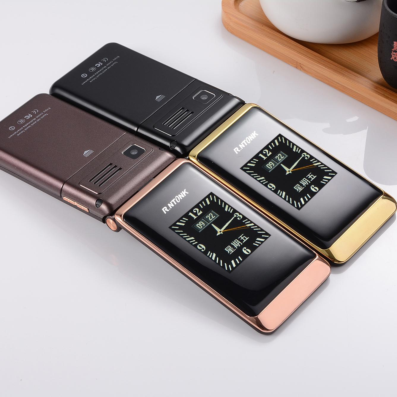 KRTONE/ zlato 荣通 stari telefon RTK9 flip - telecom vse netcom glasno stari stroj velik zaslon.