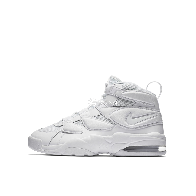 027 Nike AirMaxUptempo men's movement all white white basketball shoes 921948