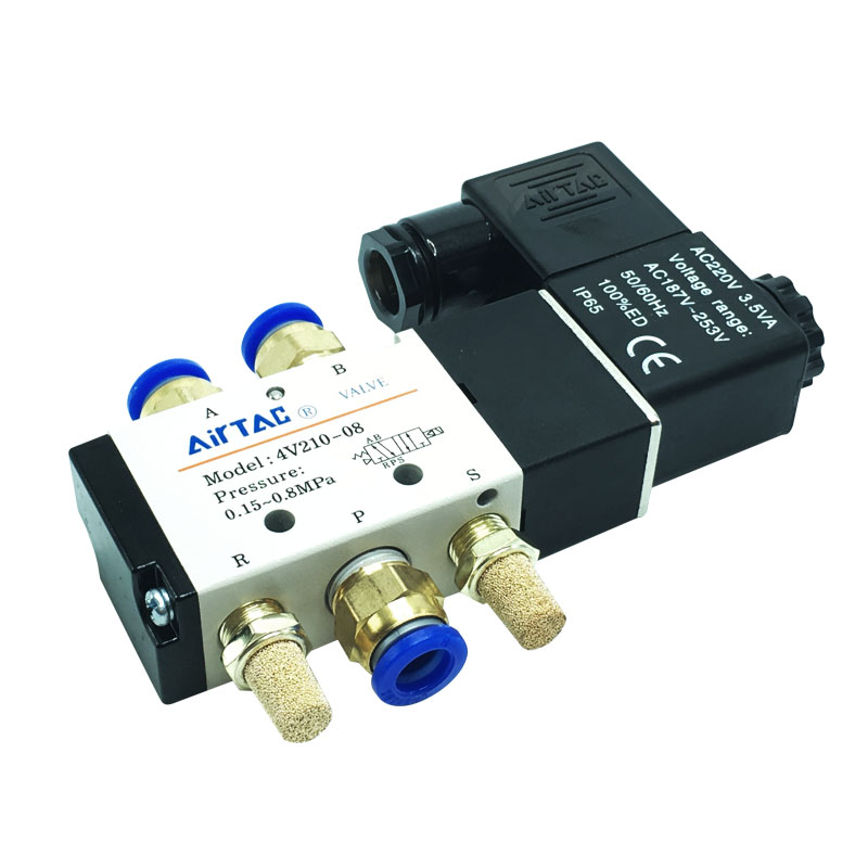 The solenoid valve 4-08 valve pneumatic valve switch off two five pneumatic valve 24V220vV210