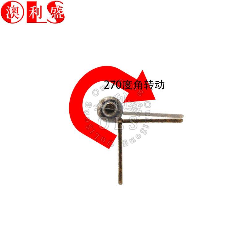 La Corona de la cabeza es de 3 pulgadas de 270 grados de bronce de la puerta de bisagra de muebles de metal pequeño Gabinete de hierro con bisagras de conexión