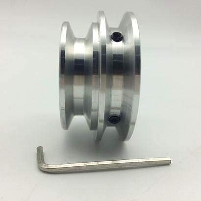 Aluminium - legierung a Double riemenscheiben spindelmotor Rundschreiben - disk 12 10 8 dreieckigen fahren rad Modell 60