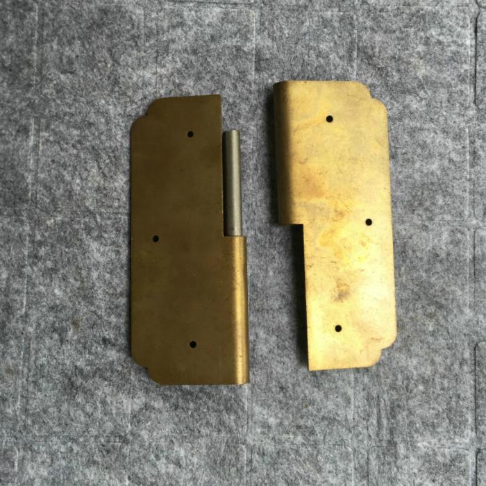 китайский антикварная мебель медные фитинги чистой меди двери и окна двери петли самолет 方合页 5x6cm покачал кожа