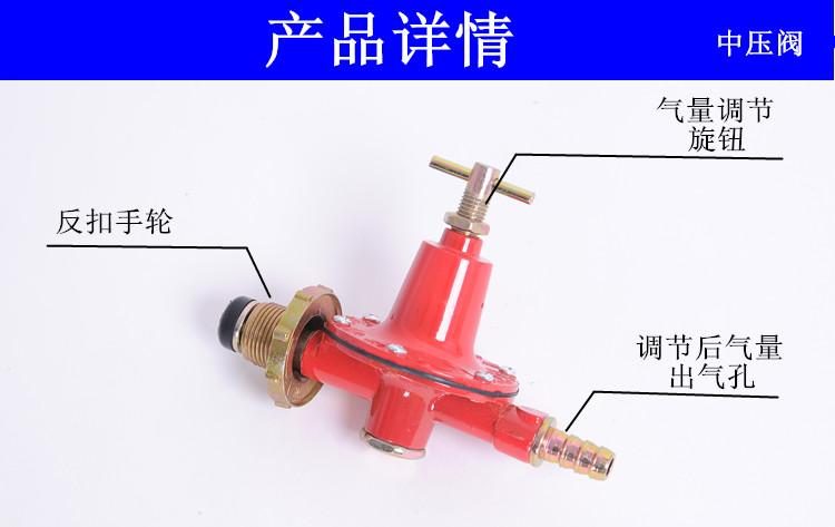 ام انخفاض ضغط خزان الغاز المنزلية موقد الغاز الموقد الغاز سخان المياه الغاز المسال صمام تخفيف الضغط الجدول زجاجة صمام الغاز