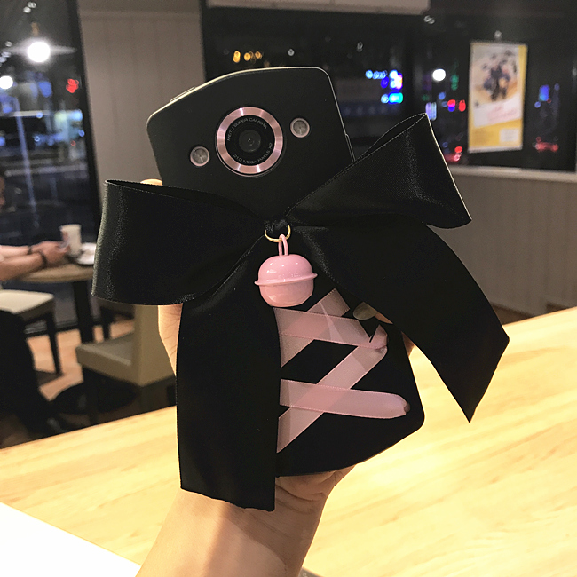 Mito M8 Diablo girl punk T8 Lolita bell M6 cute m6s ribbon bow knot M4 mobile shell