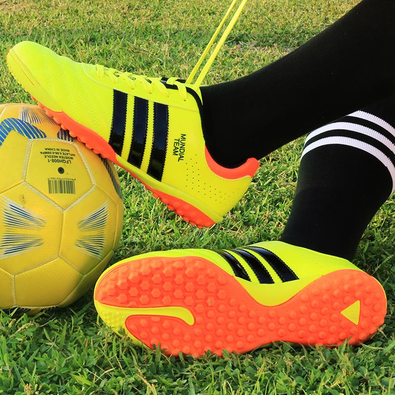 新款特价足球鞋男女碎钉tf耐磨防滑训练鞋人造草地平底成人球鞋