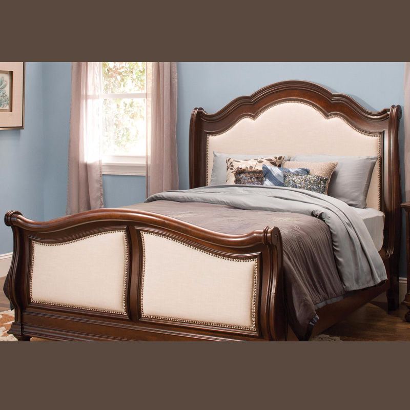 American style all solid wood bed 1.8 meters, Chinese style simple modern double bed 1.5 birch custom Nordic furniture wedding bed