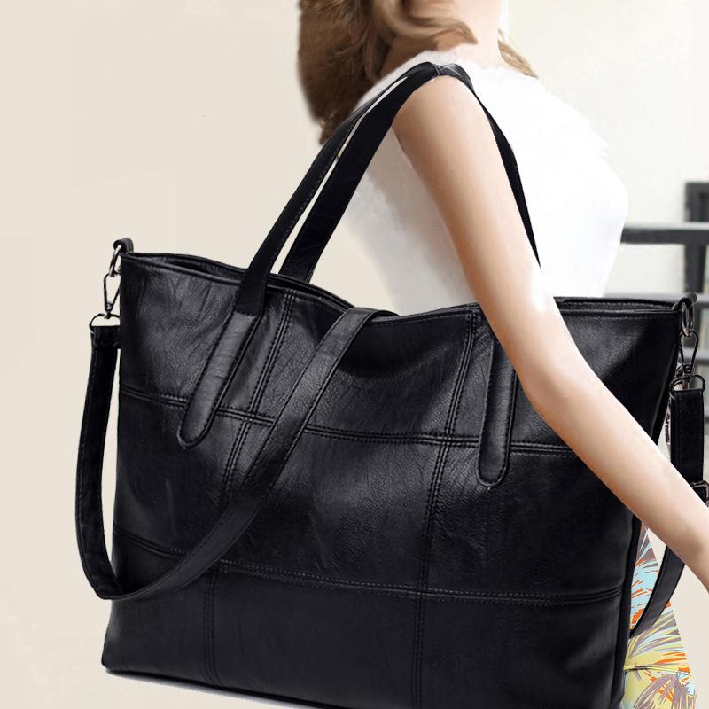包包女2017新款女士百搭韩版单肩包大容量手提包潮软皮大包斜挎包