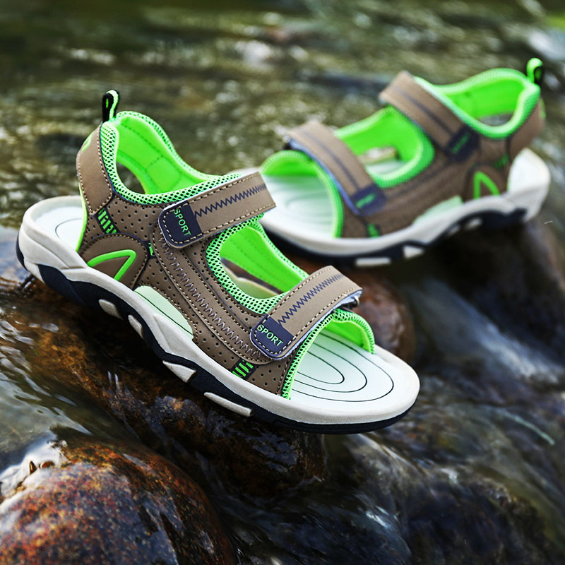 【天天特价】男童凉鞋2017夏季新款女童防滑沙滩鞋儿童软底中大童