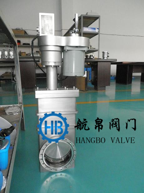 CCD stainless steel electric ultra-high vacuum flashboard valve