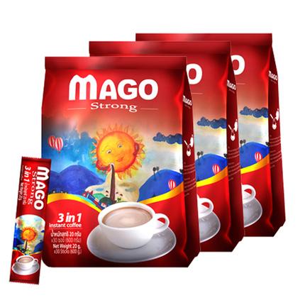 泰国原装进口特浓速溶三合一咖啡袋装MAGO原味90条装泰式冲饮提神