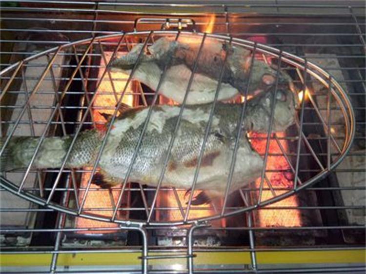 почта пакет утолщение нержавеющей стали рыба на гриле клип средних коммерческих рыба на гриле клип на гриле с полки клип съемный жареная рыба в сети