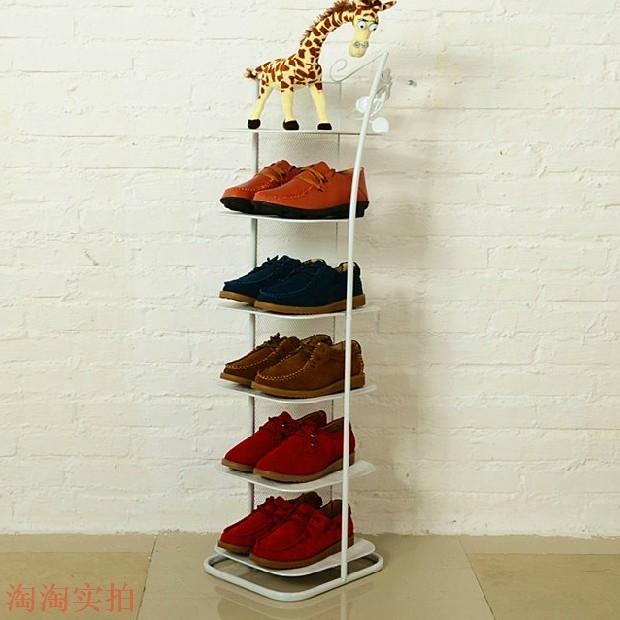 stil let, smedejerns flerlags skohylde kreative stue dust - proof gulvtype sko kabinetter med særlige dobbelt