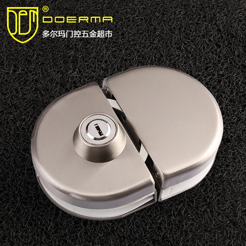 ถ้าไม่ได้ล็อคประตูที่มีคุณภาพสูงกระจกบานเดียวโดยไม่ต้องเปิดล็อคประตูล็อคประตู孔锁中เดี่ยวประตูบานคู่กระจกไม่มีสนิมเหล็ก