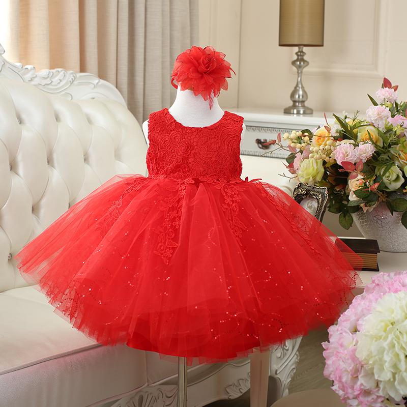 女童白色连衣裙花童礼服夏季儿童公主裙蓬蓬裙纱裙夏装生日背心裙