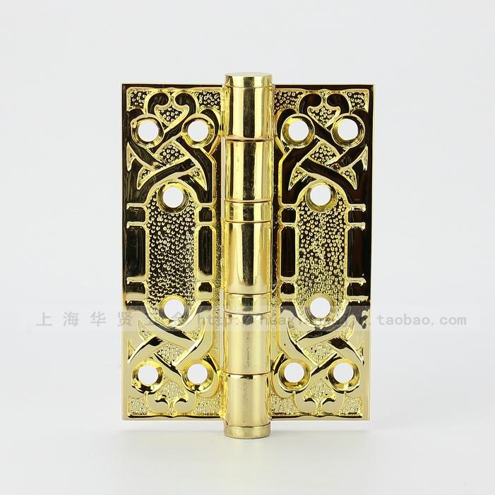 Taiwán y Tailandia bien auténtico de cobre cobre el bloqueo de 4 pulgadas de la puerta bisagra bisagra HG303ACU europeo antiguo.