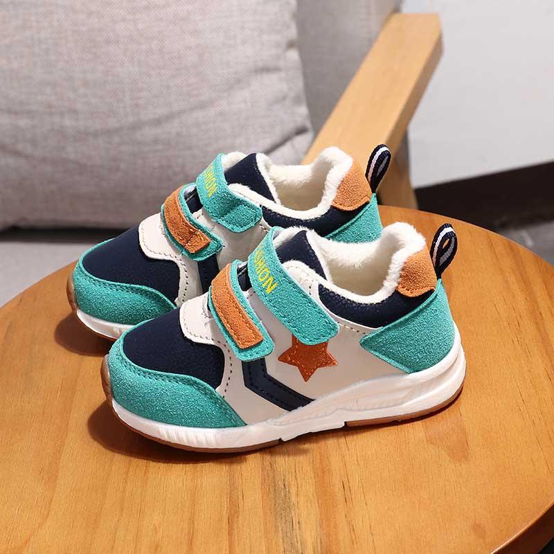 1-2-3岁5宝宝鞋子秋冬季二棉鞋男童机能鞋女童运动鞋儿童学步棉鞋