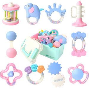 婴儿玩具 手摇铃宝宝可水煮牙胶男女孩0-3-6-12个月新生儿1岁益智