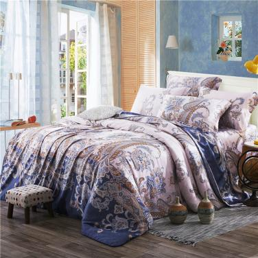 2017 new spring 60 sides in four sets of Tencel bedding silk smooth naked 1.8/2.0 meters