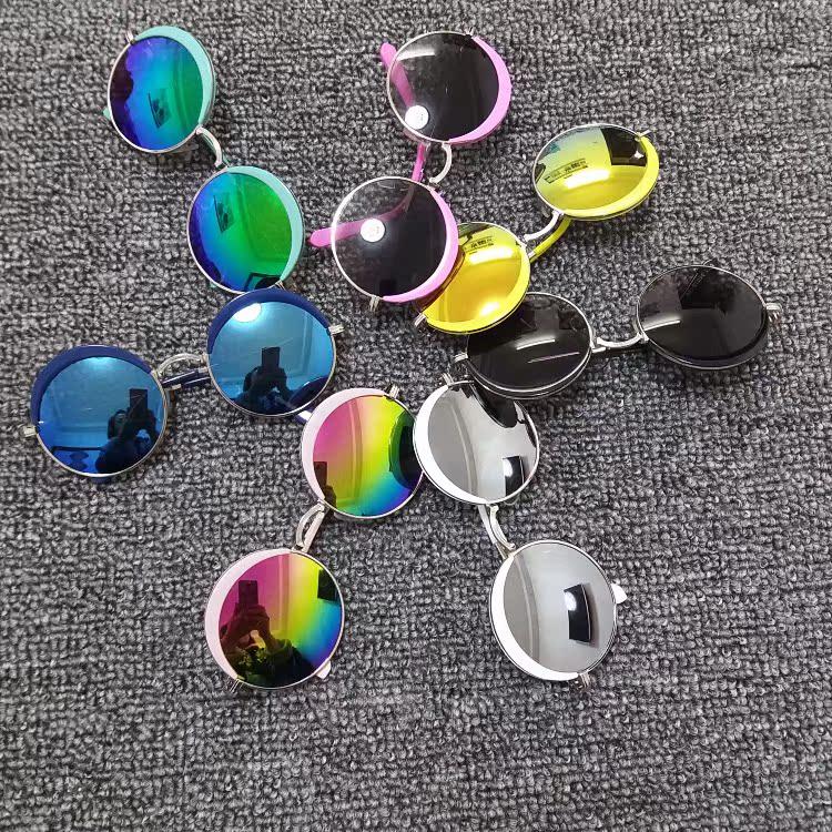 韩版儿童墨镜宝宝圆框太阳镜夏天男童女童蛤蟆镜夏季太阳眼镜童镜