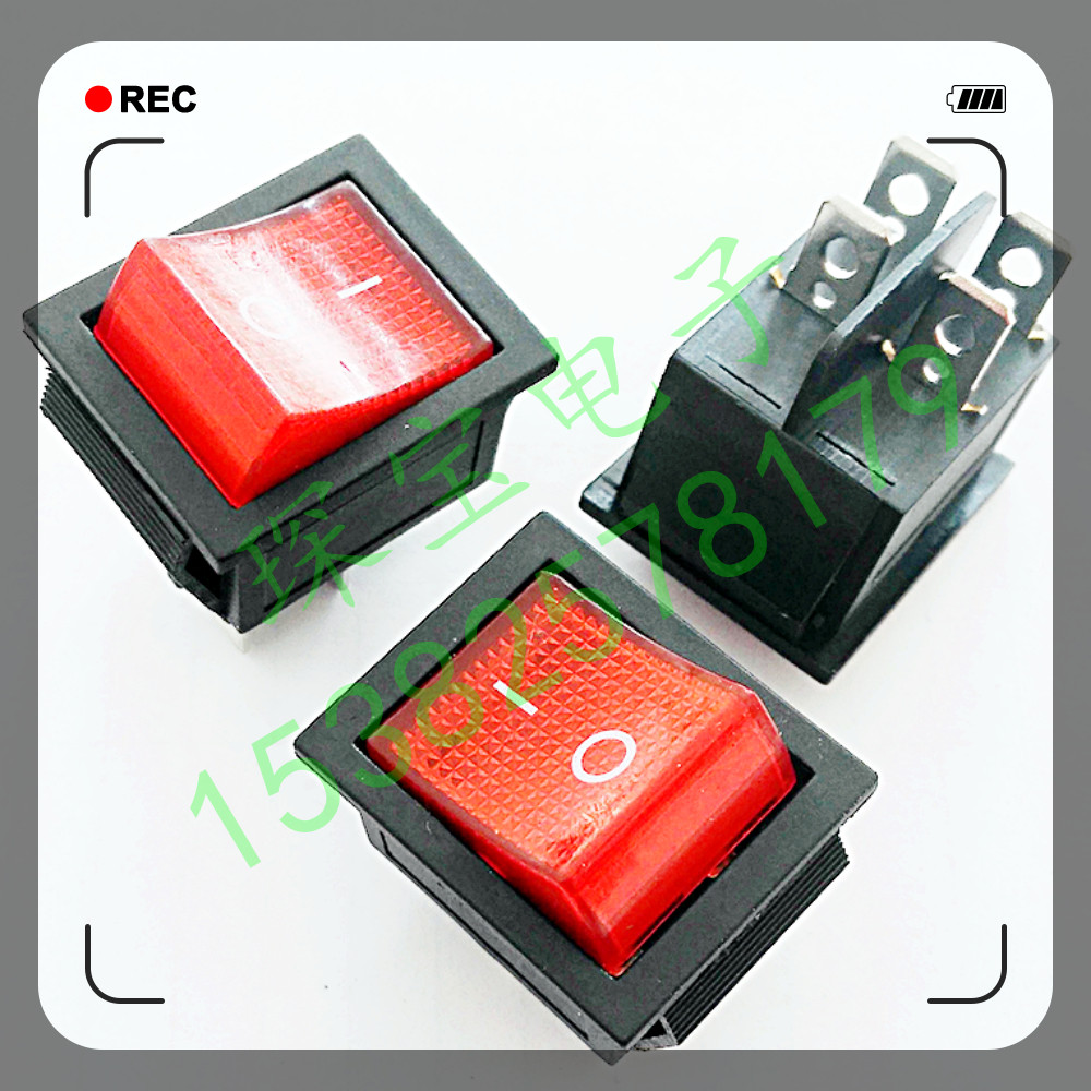 Der Ice - Dampfer ofen, kühlschrank, elektrische heizung spezielle schalter KCD4-201 schwinden der Power - Taste - schalter MIT neon -