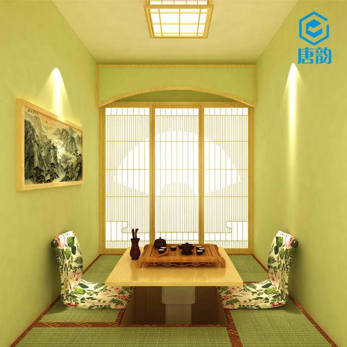Ezhou wood tatami platform storage bed and the overall design of Japanese custom door factory free installation