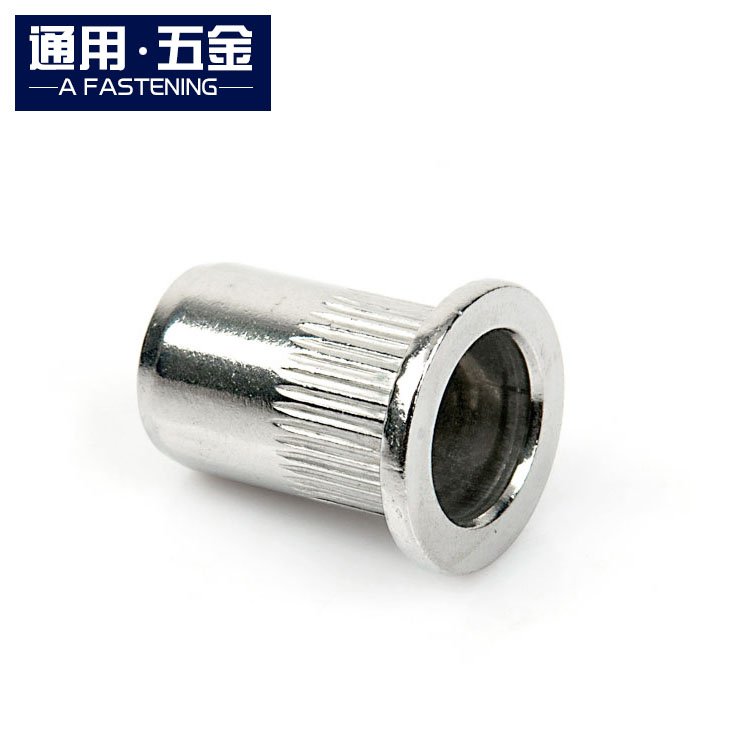 Rivet nut 304 stainless steel flat head vertical pulling rivet nut and big edge rolling flower mother M3-M12