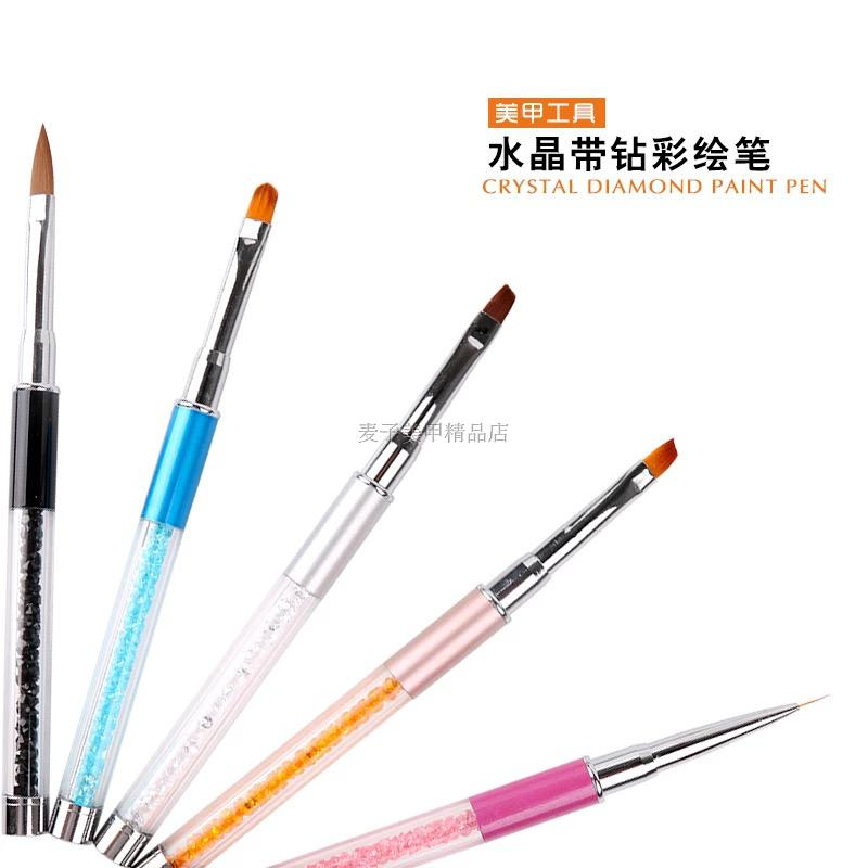 Manicure kit complete nail pull hook flower pen pen with a pen pen brush drill carved phototherapy pen