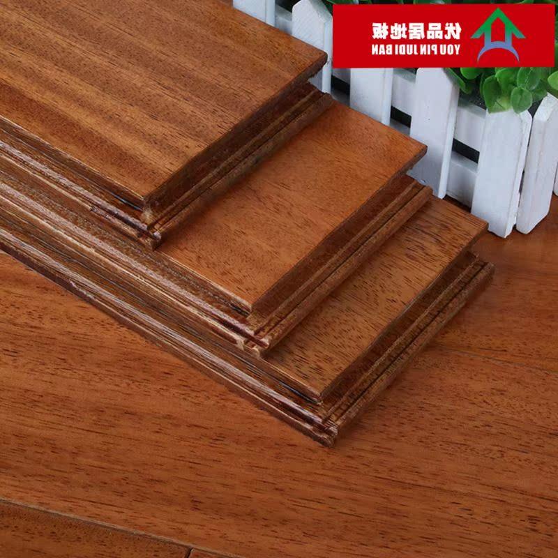 Verrou de plancher en bois massif 纽墩豆 teck africain géothermique géothermique spécial pur à l'intérieur de la Chambre de plancher en bois massif