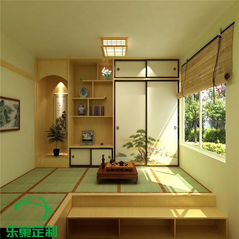 Jiaxing wood tatami bed platform whole wardrobe bedroom balcony window cushion custom child study