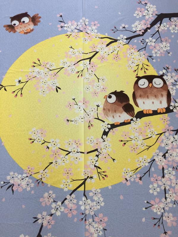 가방 우편 더하기 찍은 1 원 준 바 제비꽃 벚꽃 부엉이 한 오의 片式 일본어 布艺 프린트 문발