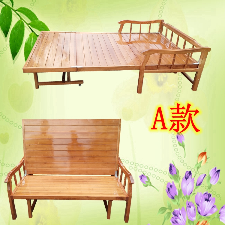 Folding sofa bed multifunctional small family lunch bed bamboo bed double bed children accompany bed simple dual-purpose bed