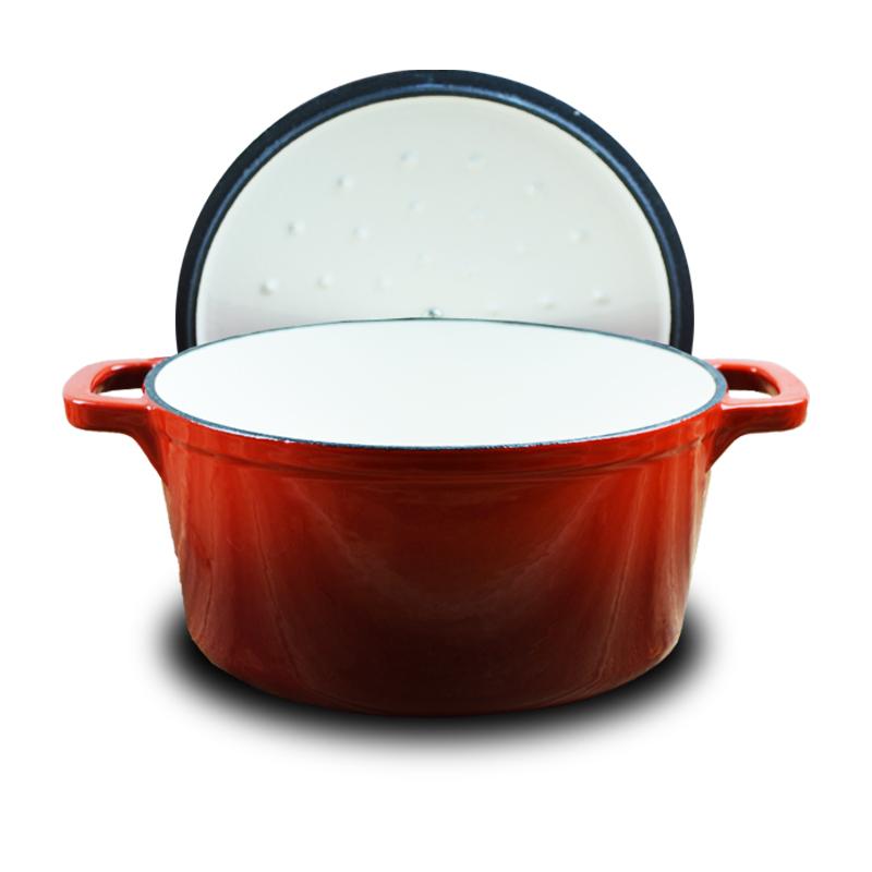støbejern emalje - 20cm tykke støbejern pot gryderet suppe pot for elektromagnetisk ovn af fælles